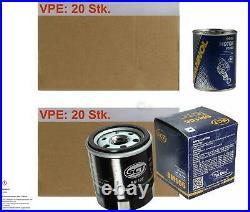 20x Original Sct Filtre à Huile Sm 106 + 20x Sct Moteur Flush Rinçage de Moteur