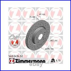 2 Disque de frein ZIMMERMANN 540.2494.52 DISQUE DE FREIN SPORT COAT Z