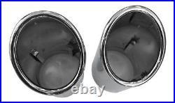 2x Premium Inox Embout D'Échappement Origine Qualité 92-98mm Beaucoup Véhicules
