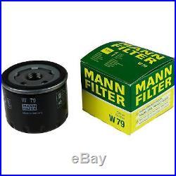 3xMANN-FILTER Ölfilter-w 79 + 3xLiqui Moly Pro-Line Rinçage de Moteur / 3x Cera