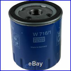 3xmann-filter Ölfilter-w 716/1+3xliqui Moly Pro-Line Rinçage de Moteur / 3x
