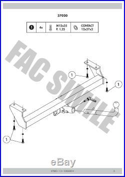 Attelage Démont 7Br relais pour Suzuki GRAND VITARA 4WD CABRIO 98-05 37020 B2