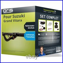 Attelage pour Suzuki Grand Vitara 05- Amovible Oris + Faisceau u. 7 broches NEUF