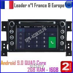 Autoradio GPS Android 9 Suzuki Grand Vitara de 2005 à 2013