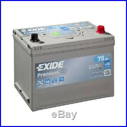 Batterie Exide Premium EA754 12v 75AH 630A