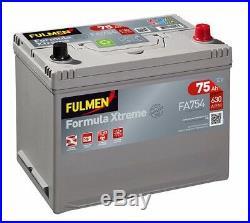 Batterie Fulmen FA754 12v 75ah 630A plomb calcium calcium