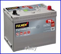 Batterie démarrage voiture Fulmen FA754 12v 75ah 630A 270x173x222mm