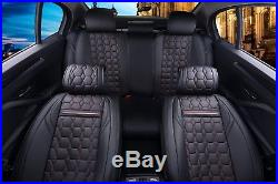 DE LUXE simili cuir noir set complet Couvertures siège pour SUZUKI SWIFT VITARA