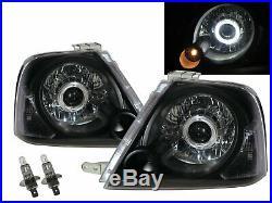 Grand Vitara XL-7 04-06 Guide LED Angel-Eye Headlight Headlamp BK for SUZUKI LHD