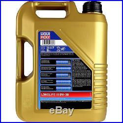 Liqui Moly 6L Longlife III 5W-30 Huile + Filtre pour Suzuki Grand Vitara II JT