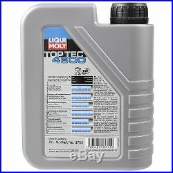 Liqui Moly 6L Toptec 4600 5W-40 Huile + Filtre pour Suzuki Grand Vitara I ft Gt