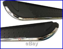 Marche-pieds latéraux Suzuki Grand Vitara 5 portes 06-14 (D+G) Pearl Black 173cm