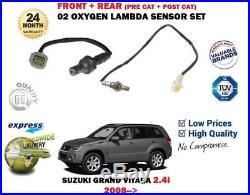 Pour Suzuki Grand Vitara 2.4 2008 avant + ARRIÈRE 2 X 02 Oxygen Capteur Lambda