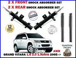 Pour Suzuki Grand Vitara AWD modèle 2005- 2x AVANT + 2 x Amortisseur Arrière