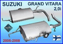 Silencieux arrière SUZUKI GRAND VITARA 2,0i 5 DR