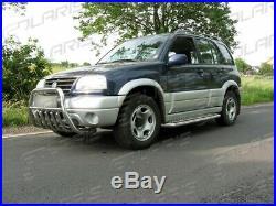 Suzuki Grand Vitara 1998-2005 MARCHE-PIEDS INOX PLAT / PROTECTIONS LATERALES