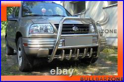 Suzuki Grand Vitara 1998-2005 Pare-buffle Haut Avec Grille De Protection En Inox