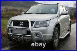 Suzuki Grand Vitara 2006-2014 MARCHE-PIEDS INOX PLAT / PROTECTIONS LATERALES