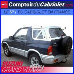 Suzuki Grand Vitara Capote 5 parties en vinyle O. E. M blanc