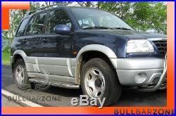 Suzuki Grand Vitara I 1998-2005 Marche-pieds Inox Plat / Protections Laterales