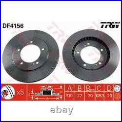 TRW 2x Disques de Frein Ventilé Peint Noir DF4156