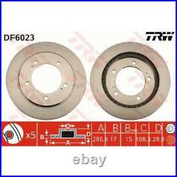 TRW 2x Disques de Frein Ventilé Peint Noir DF6023