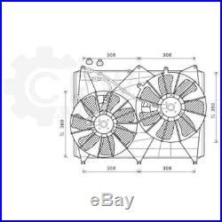Ventilateur Refroidissement Moteur de Radiateur Suzuki Grand Vitara II